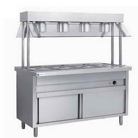 6 GN Pan Commercial Bain Marie Food Warmer With Lamps TT