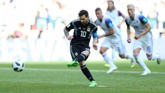 Lionel Messi y el penal errado contra Islandia en el Mundial de Rusia