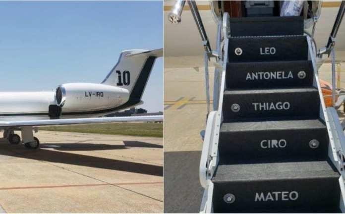 Así es el lujoso avión de Messi que traerá a los jugadores de la Selección