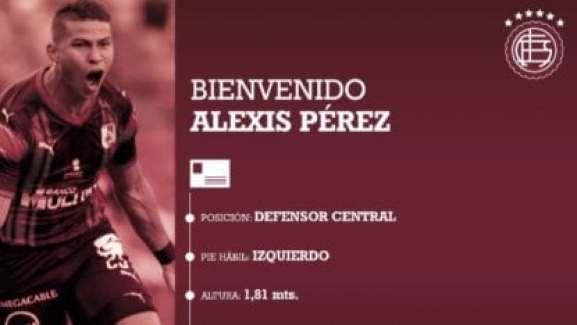 Lanús oficializó la llegada de Alexis Pérez