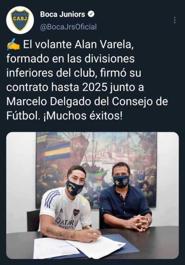 Fin del conflicto: Alan Varela renovó su contrato con Boca con una cláusula millonaria