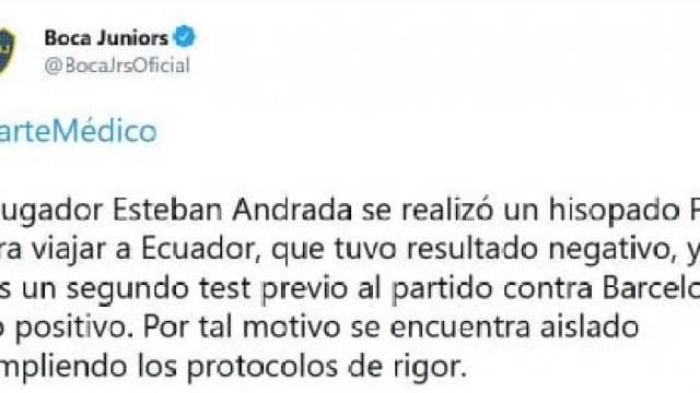 Comunicado Boca Andrada