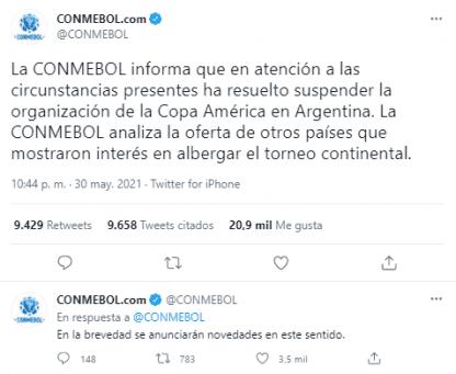 tweet conmebol