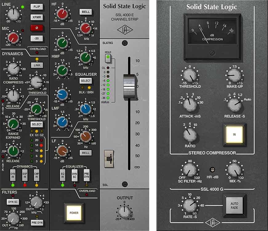 SSL 4000 Series Console Bundle  UAD Audio Plugins