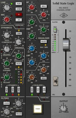 SSL 4000 E Channel Strip Collection | UAD Audio Plugins | Universal Audio