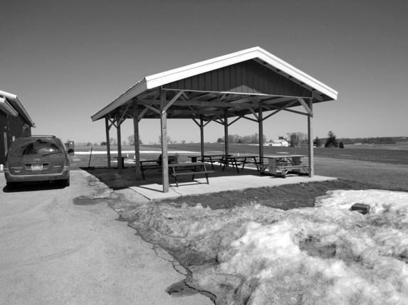 Summer Shelter landscape renovation before photo