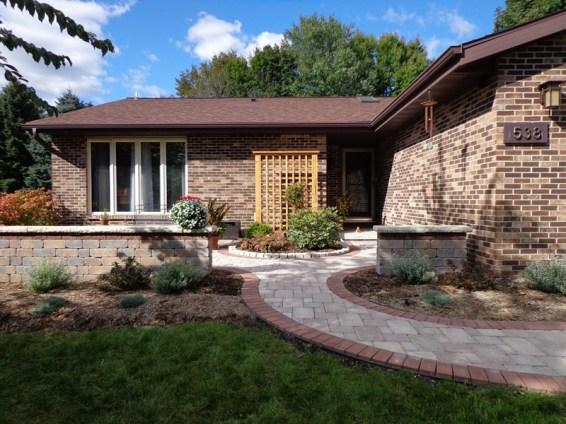 New front entry landscape renovation