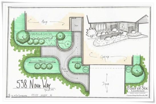 Focused Front landscape design
