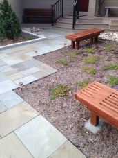 Custom Benches within planting bed