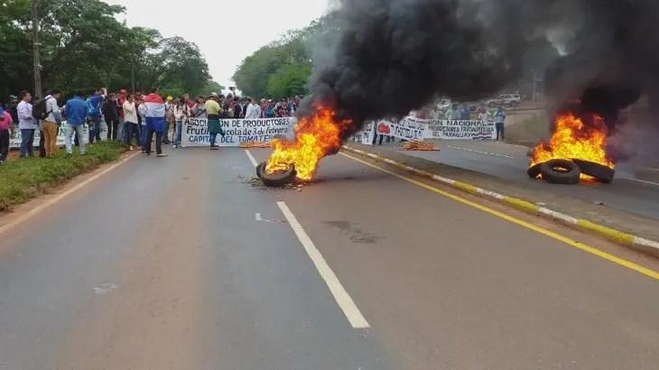 Unos 25 productores de Coronel Oviedo fueron imputados por cerrar la ruta el pasado martes por más de siete horas.