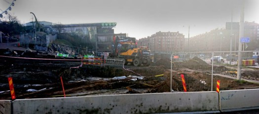 staden under byggtiden korsvägen