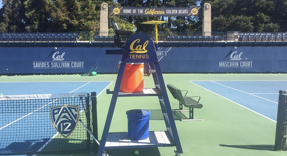 tennis umpire chair hire desk white leather cal camp at uc berkeley