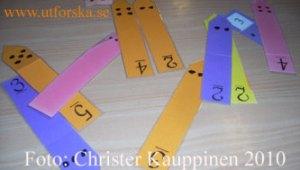 Matematikkort med siffror och symboler
