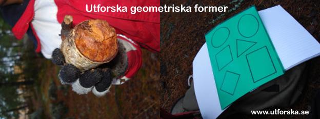Utforska geometriska former collage