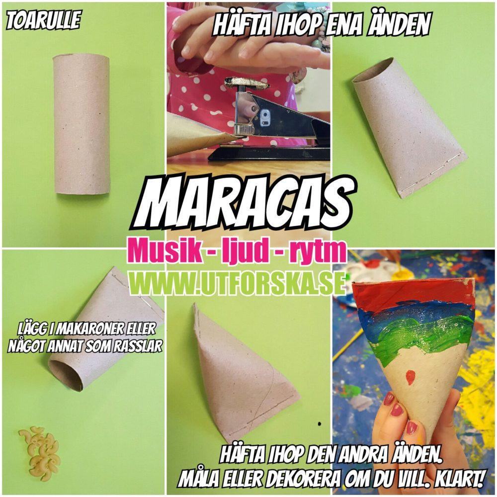 Utforska ljud och musik med maracas