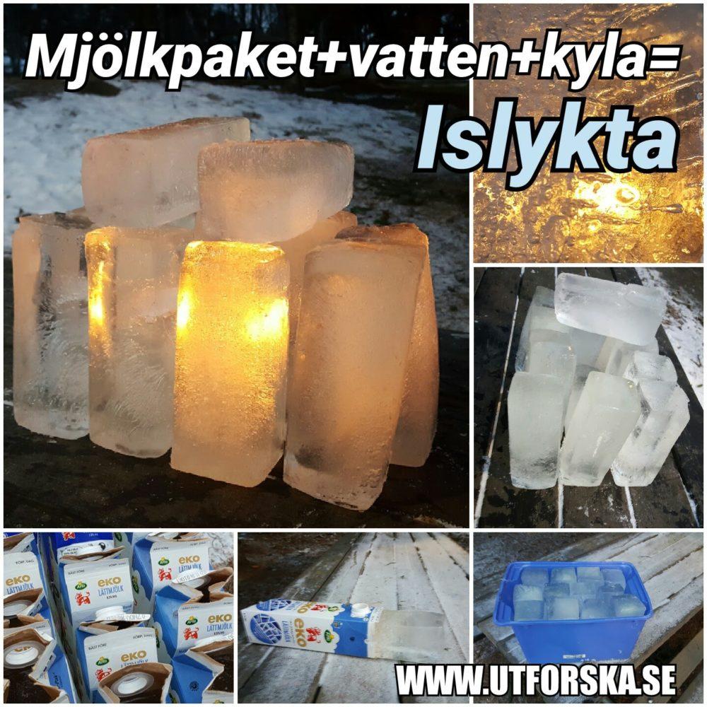 Gör en islykta med mjölkpaket och vatten