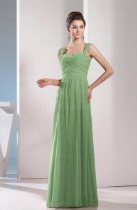 Sage Green Cute A-line Chiffon Floor Length Ruching ...