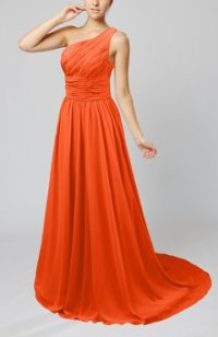 Tangerine Color Bridesmaid Dresses - UWDress.com