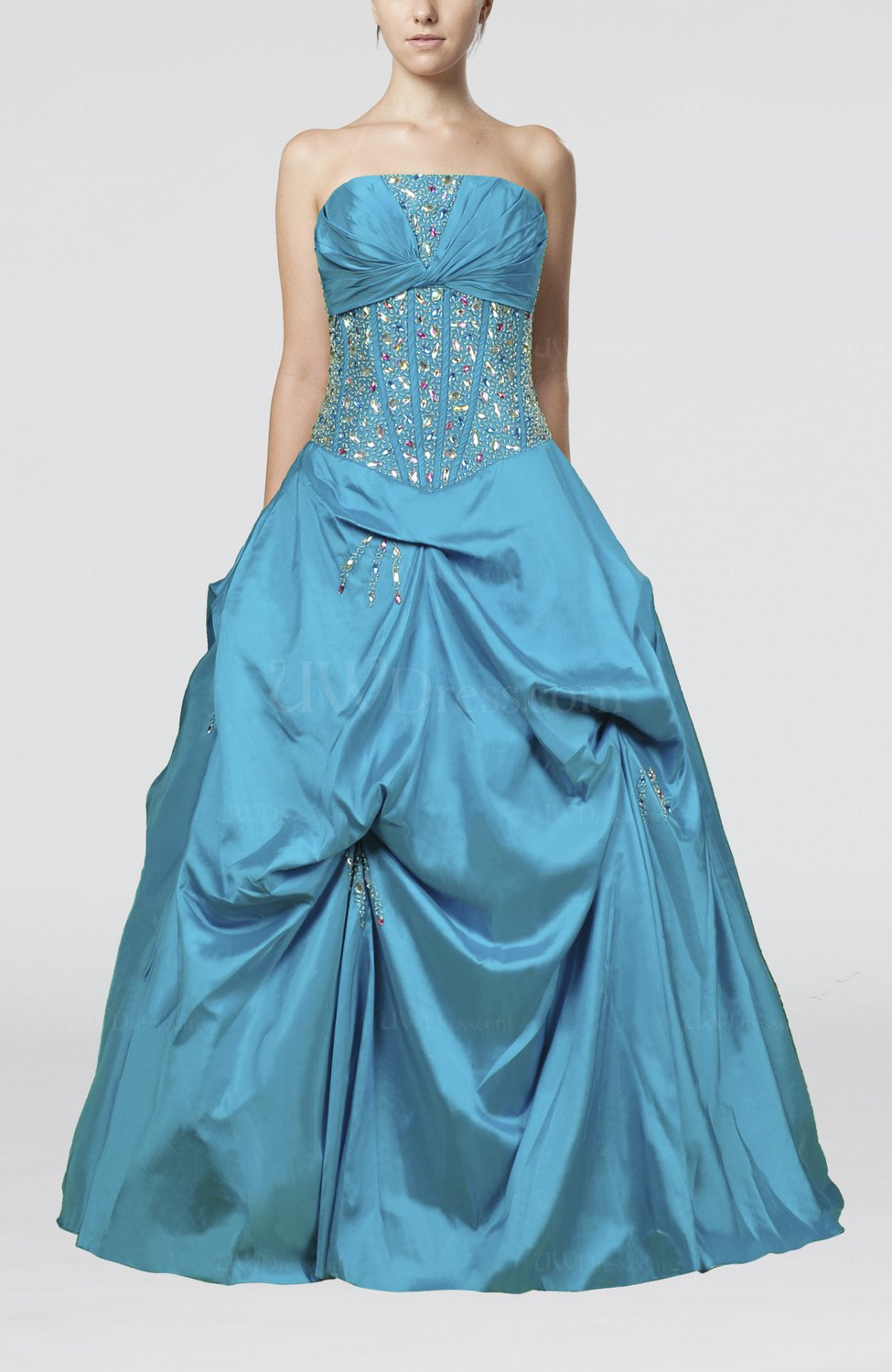 teal cinderella princess sleeveless