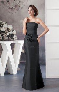 Black Affordable Bridesmaid Dress Inexpensive Taffeta ...