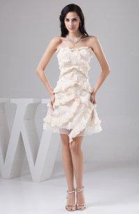 Cream Unique Homecoming Dress Short Affordable Petite Semi ...