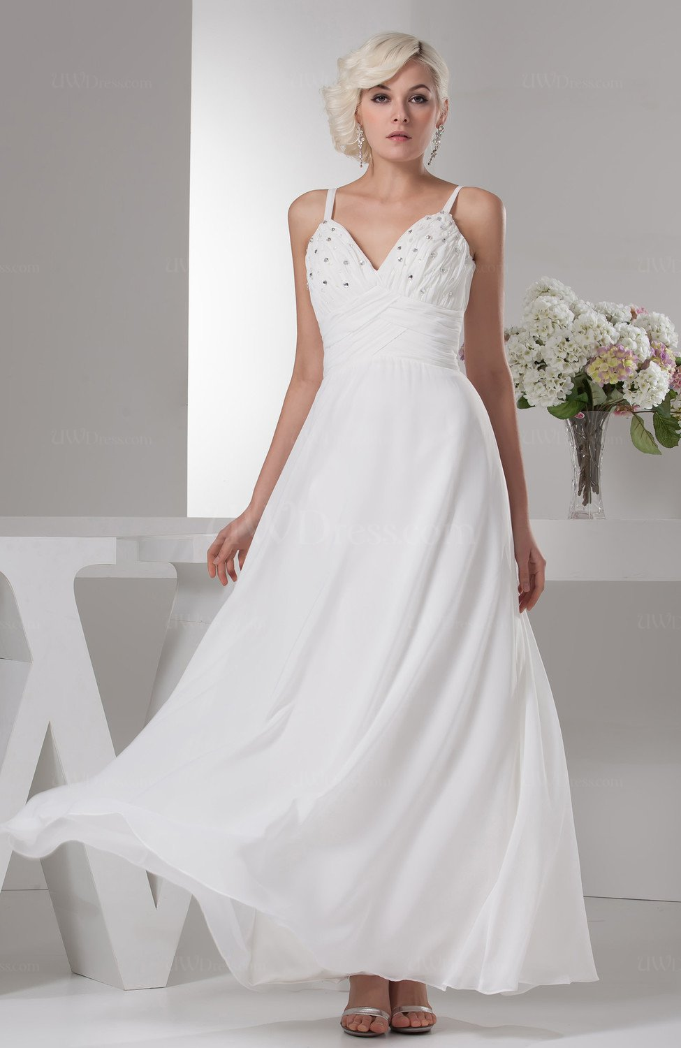 White Affordable Wedding Guest Dress Simple Summer Classy