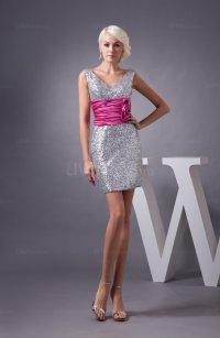 Unique Bridesmaid Dress Short Sleeveless Glamorous Simple ...