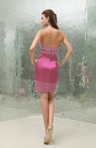 Plain Sheath Hook up Satin Mini Prom Dresses  UWDresscom