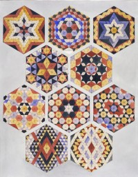 Designs for tiles in Islamic style