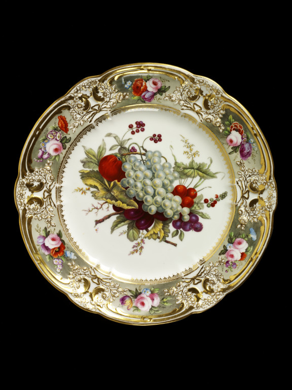 Plate  Nantgarw China Works  VA Search the Collections