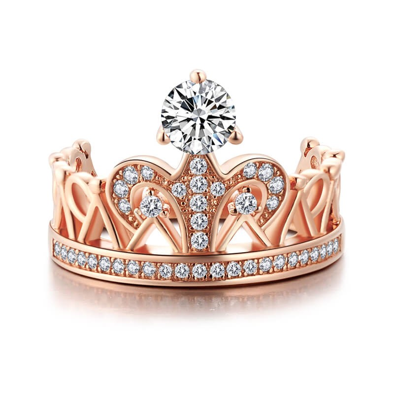 rose gold princess crown