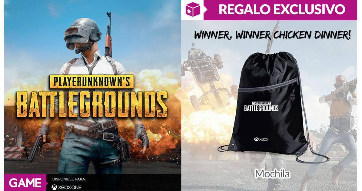 GAME Ofrece Una Mochila De Regalo Con PUBG Para Xbox One