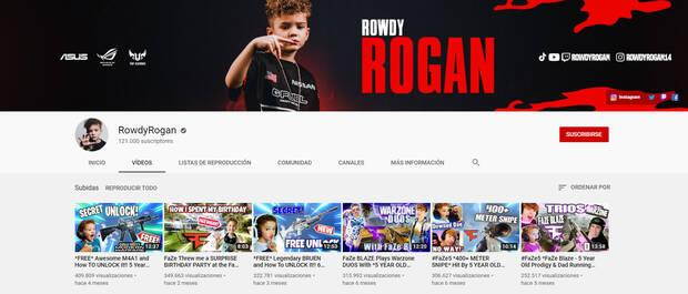 YouTube RowdyRogan ban Call of duty Warzone