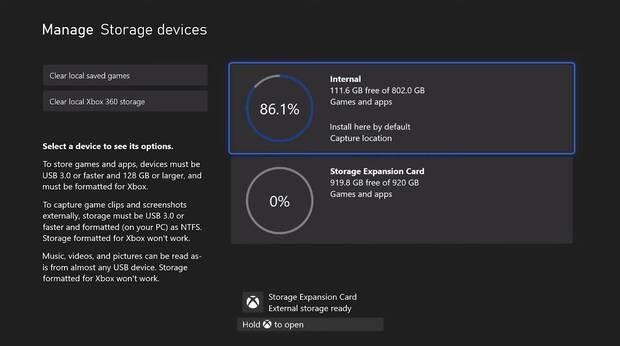 Xbox Series X dedicará casi un 20% de su almacenamiento al sistema operativo Imagen 2