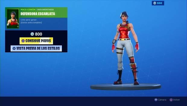Fortnite - Skins: Defensora escarlata