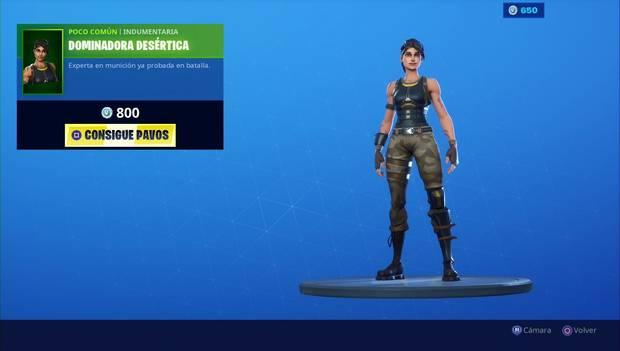 Fortnite - Skins: dominadora desértica