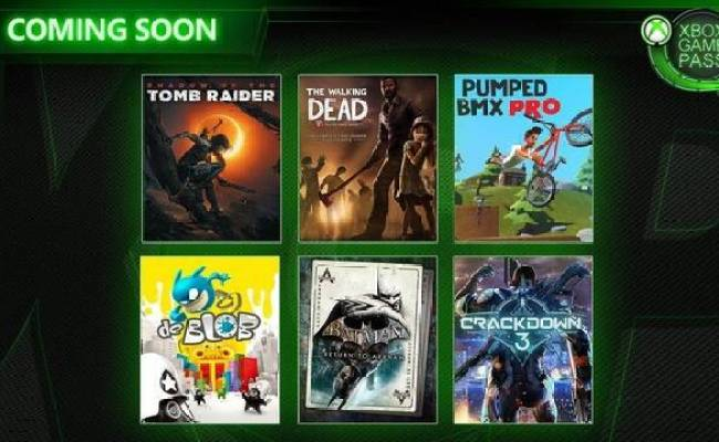 Xbox Game Pass Shadow Of The Tomb Raider Crackdown 3 Y