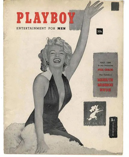 *Playboy*s first cover girl, Marilyn Monroe, 1953. *Courtesy of *Playboy.