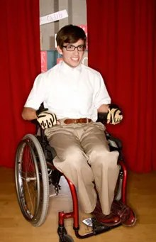 wheelchair glee hanging chair bracket yes s kevin mchale will be white boy rapping this season plays artie the kid in on hit tv show which begins its second tonight those of you who followed my weekly