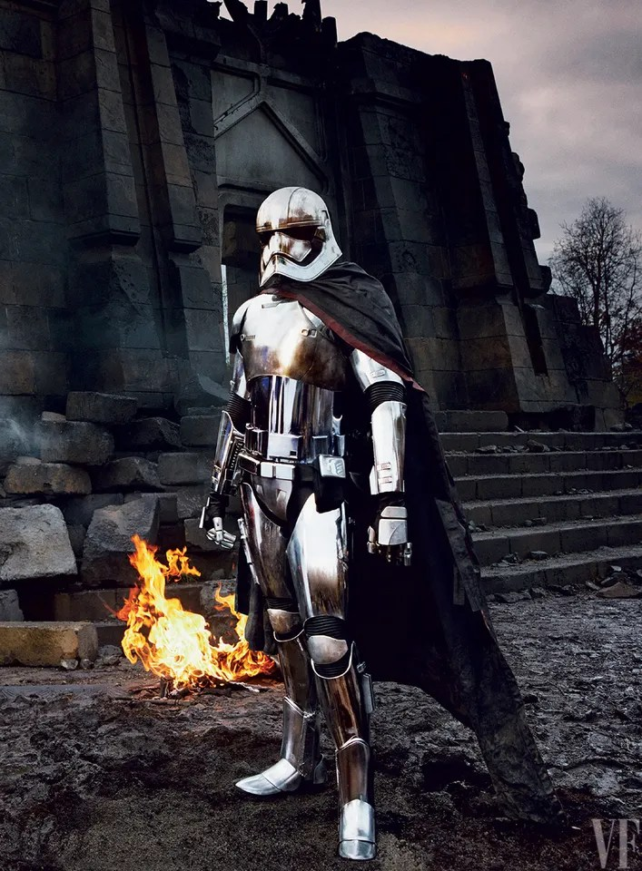 Gwendoline Christie as Captain Phasma, photographed by Annie Leibovitz for Vanity Fair, 2015