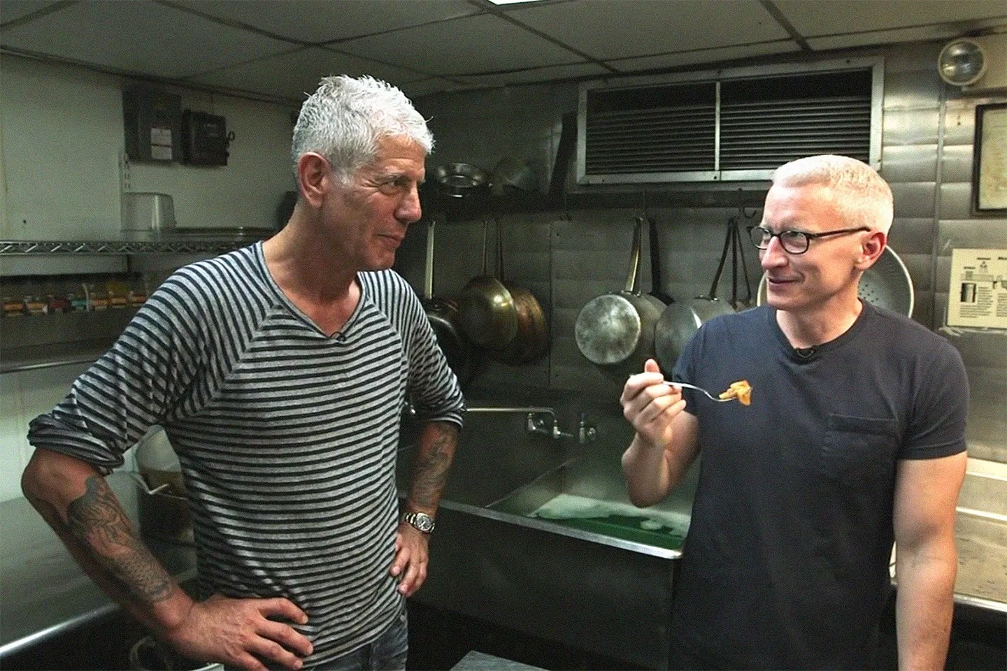Anthony Bourdain Is on a Mission to Make Anderson Cooper