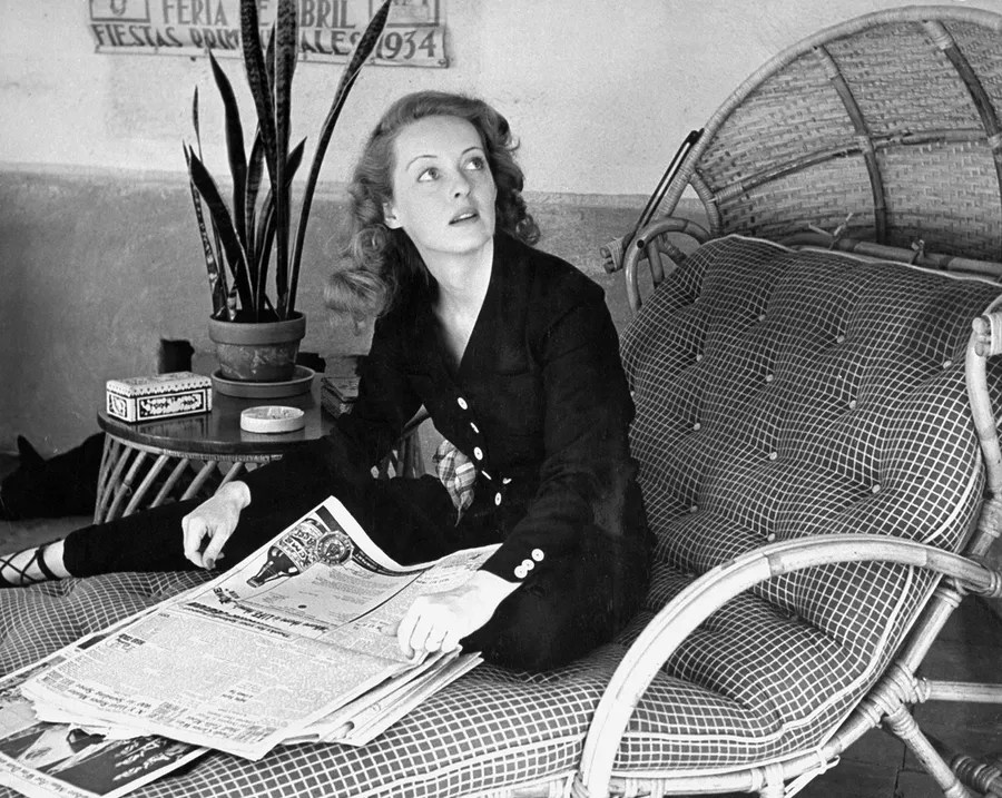 Image result for bette davis reading