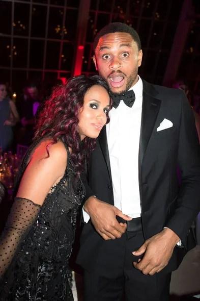 Kerry Washington and Nnamdi Asomugha