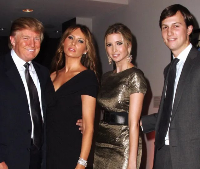 From Left To Right Donald Trump With Melania Ivanka And Jared Kushner At