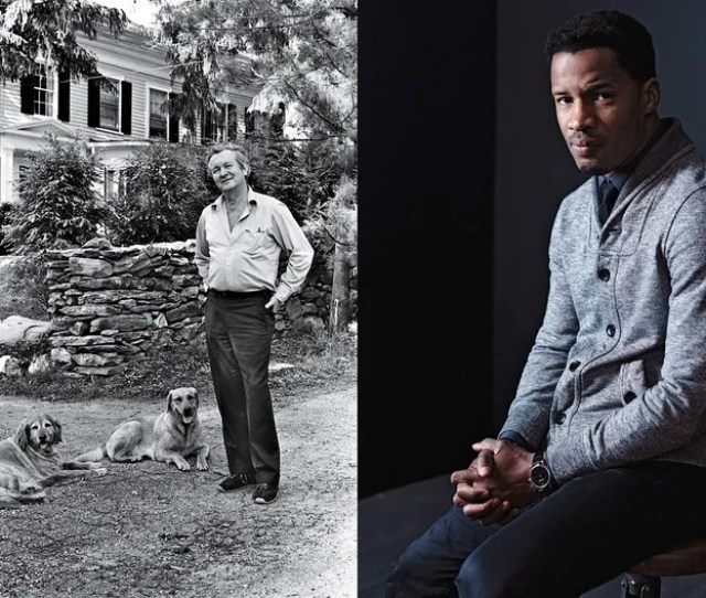 Left Author William Styron At Home In Roxbury Connecticut  Right