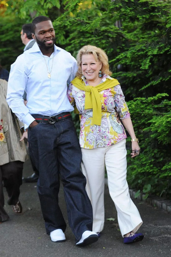 <strong>Bette Midler and 50 Cent</strong>
