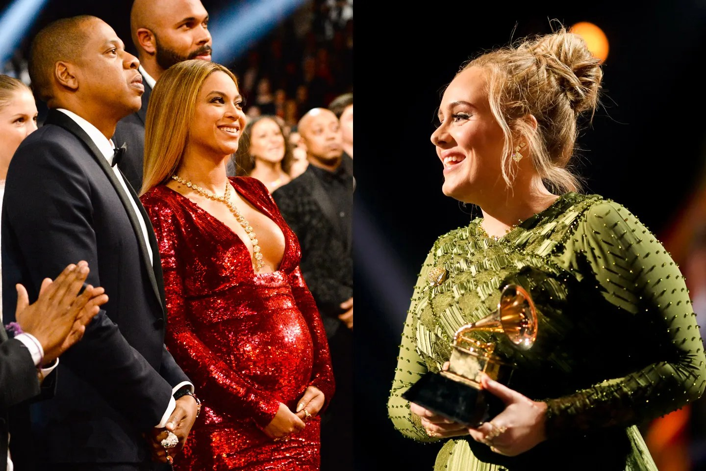 Image result for grammys beyonce adele 2017