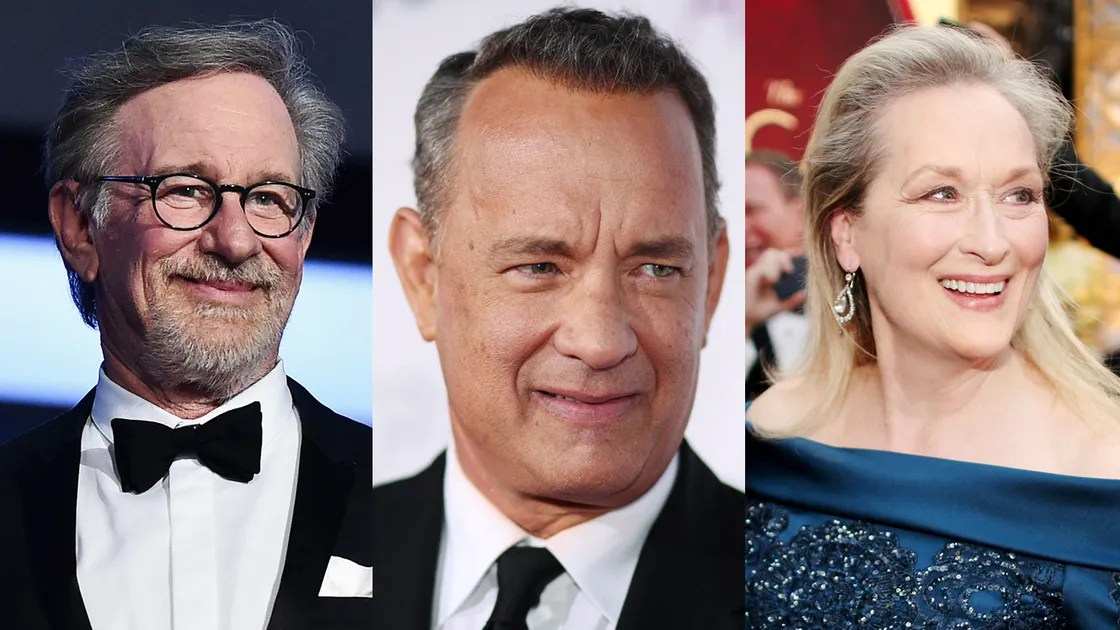 Image result for steven spielberg tom hanks meryl streep