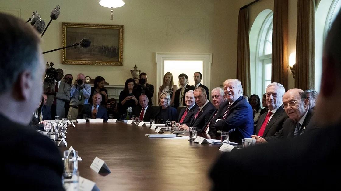 Trump Appointees Take Turns Praising Him in Bizarre