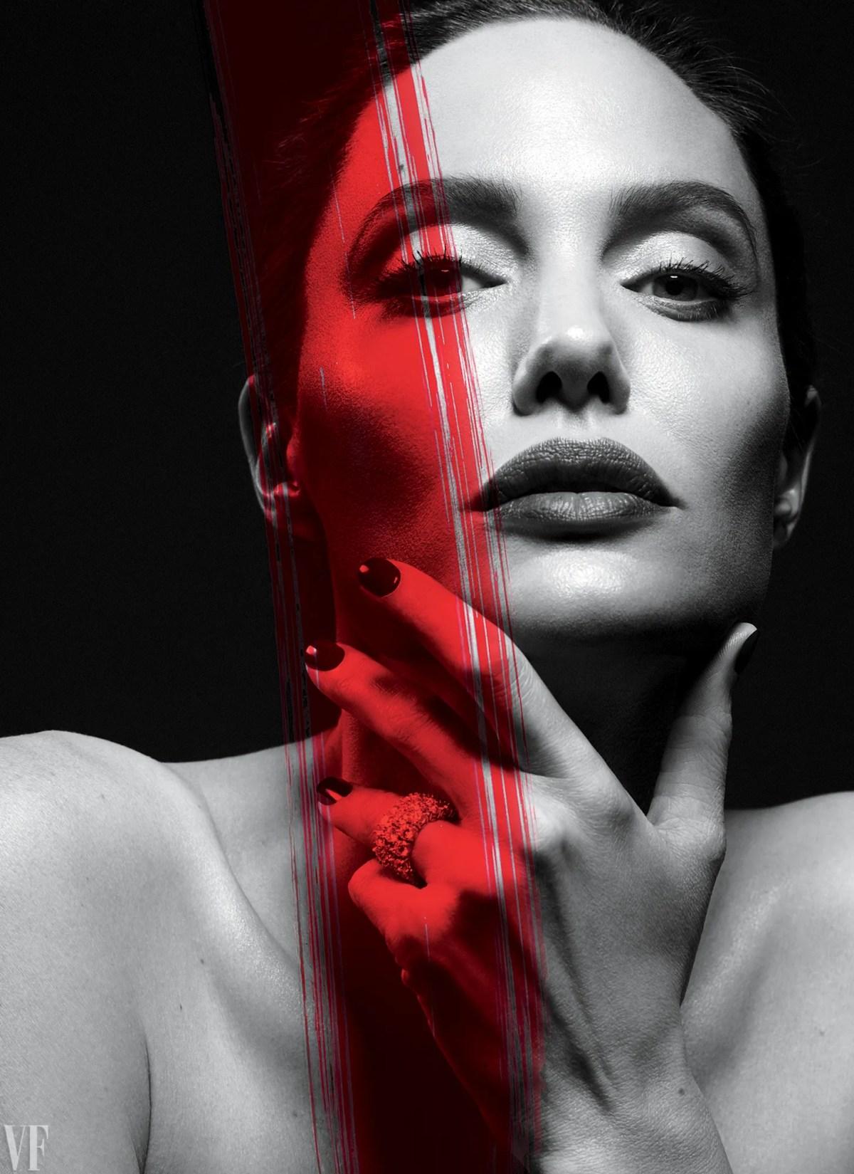 Histoire de couverture de Vanity Fair d'Angelina Jolie